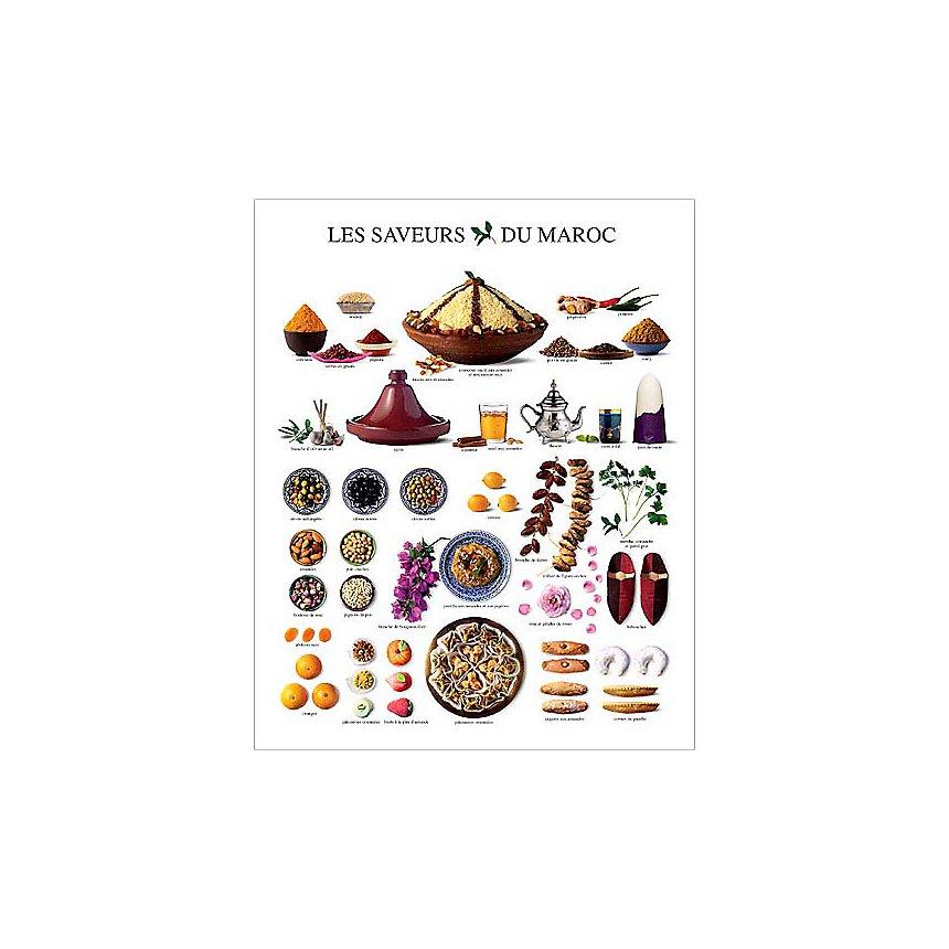 Les saveurs du Maroc, Atelier Nouvelles Images, affiche 24x30 cm