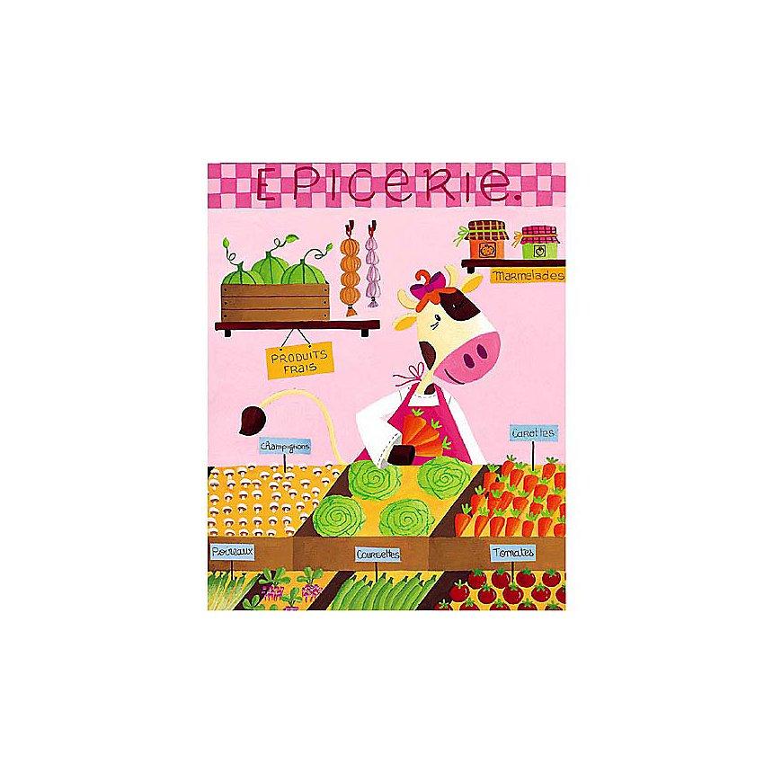 L'épicerie des couleurs, MELOPEE, affiche 24x30 cm