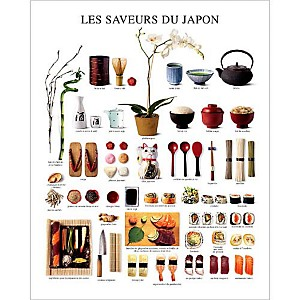 Les saveurs du Japon, Atelier Nouvelles Images, affiche 24x30 cm