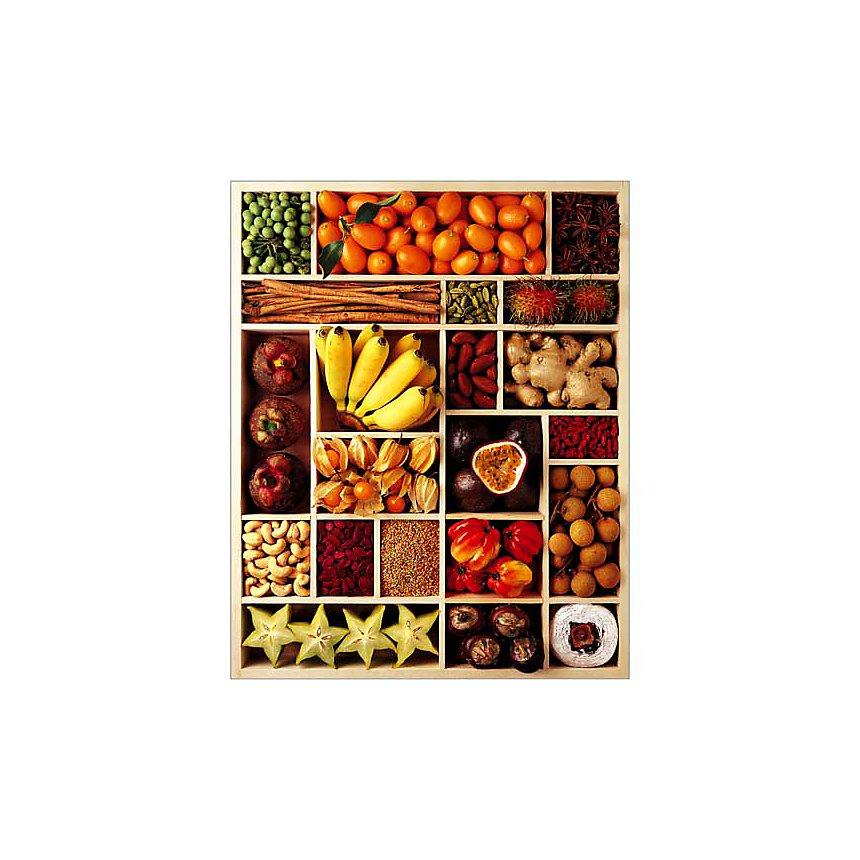 Fruits exotiques, Atelier Nouvelles Images, affiche 40x50 cm