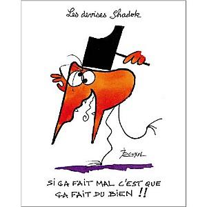 Si ça fait mal c'est que ça fait du bien ! , Jacques ROUXEL (1931-2004), affiche 24x30 cm
