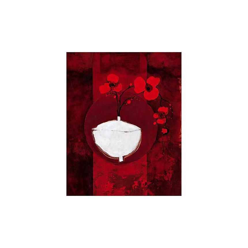 Vase et fleurs, Anna BUSCHULTE, affiche 40x50 cm