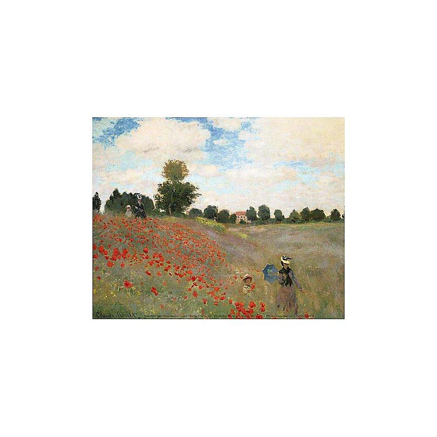 Les coquelicots , Claude MONET (1840-1926), affiche 24x30 cm