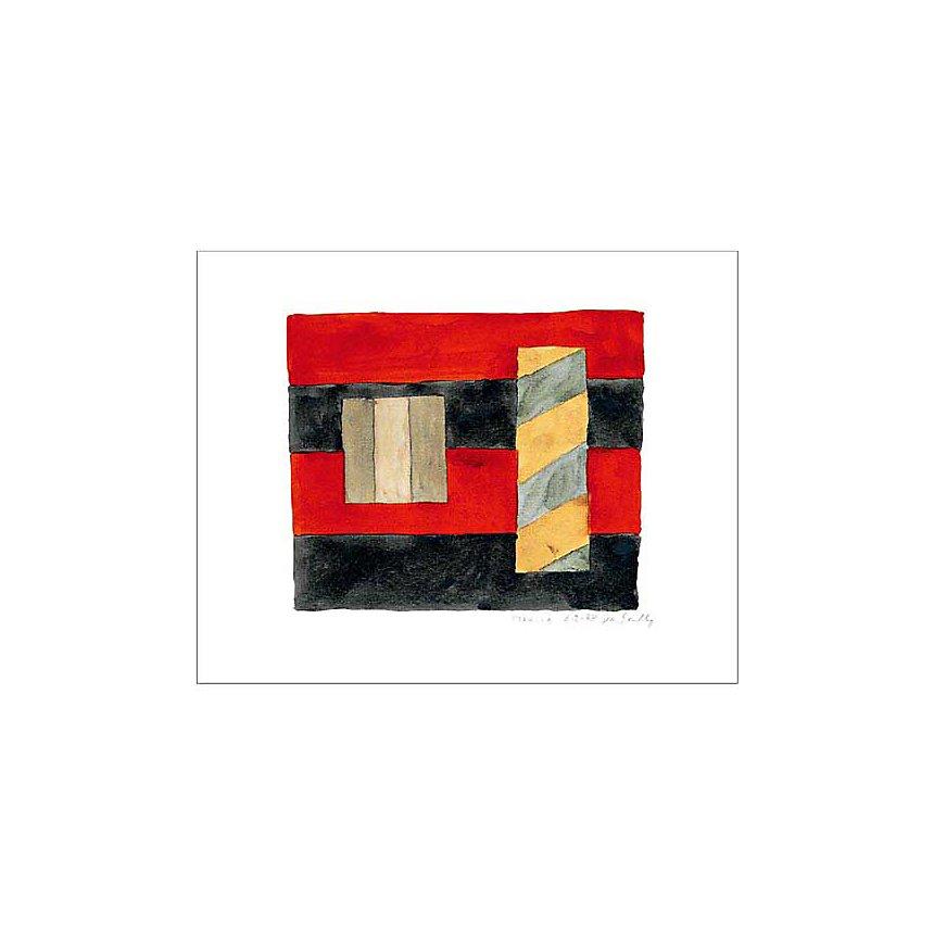 Mexico 4.2.88 , Sean SCULLY, affiche 40x50 cm