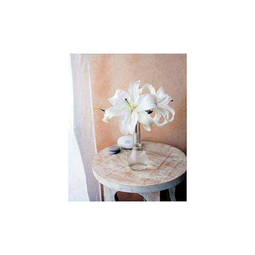 Les lys blancs, Amélie VUILLON, affiche 40x50 cm
