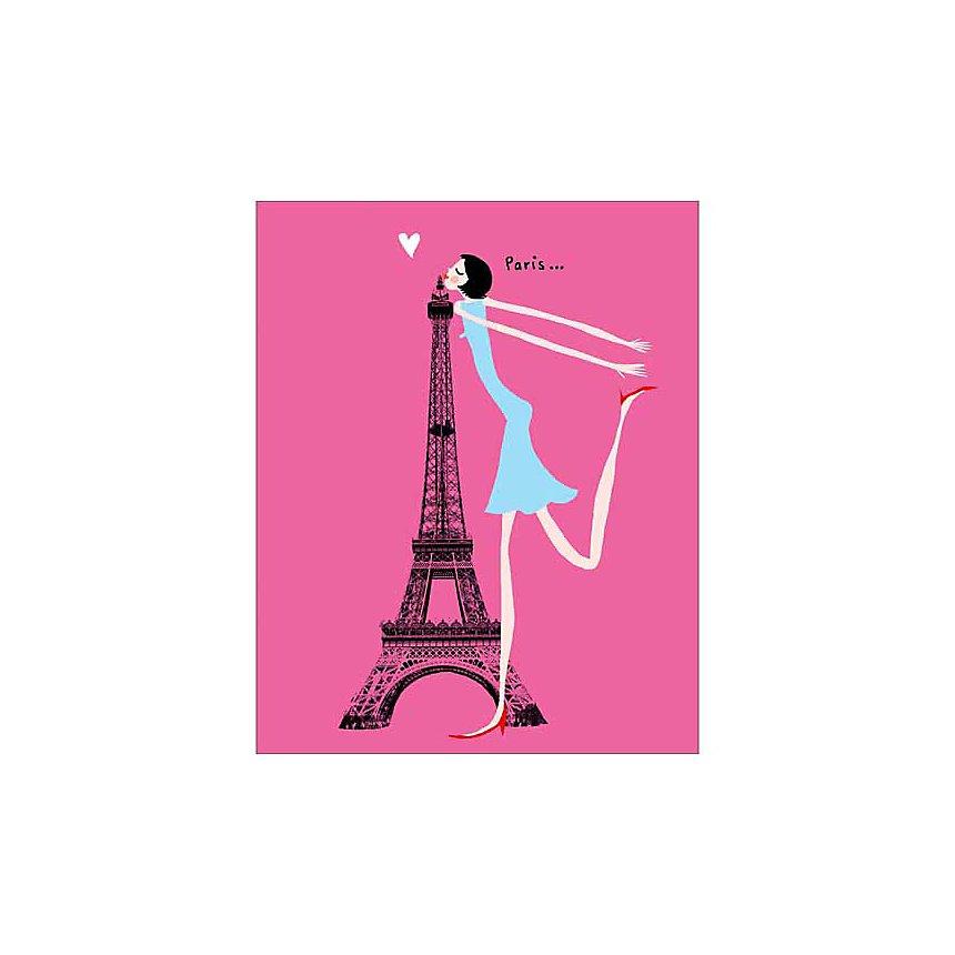 Bisou, Emmanuelle TEYRAS, affiche 24x30 cm
