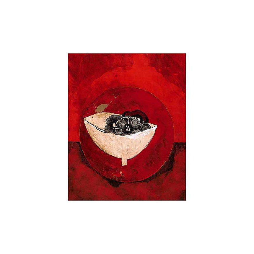 Pot et fleurs, Anna BUSCHULTE, affiche 40x50 cm