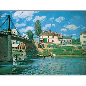 Le pont de Villeneuve-la-Garenne, Alfred SISLEY, affiche 30x40 cm