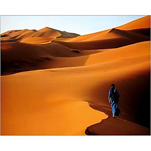 Merzouga, Sahara, Maroc , John BEATTY, affiche 24x30 cm