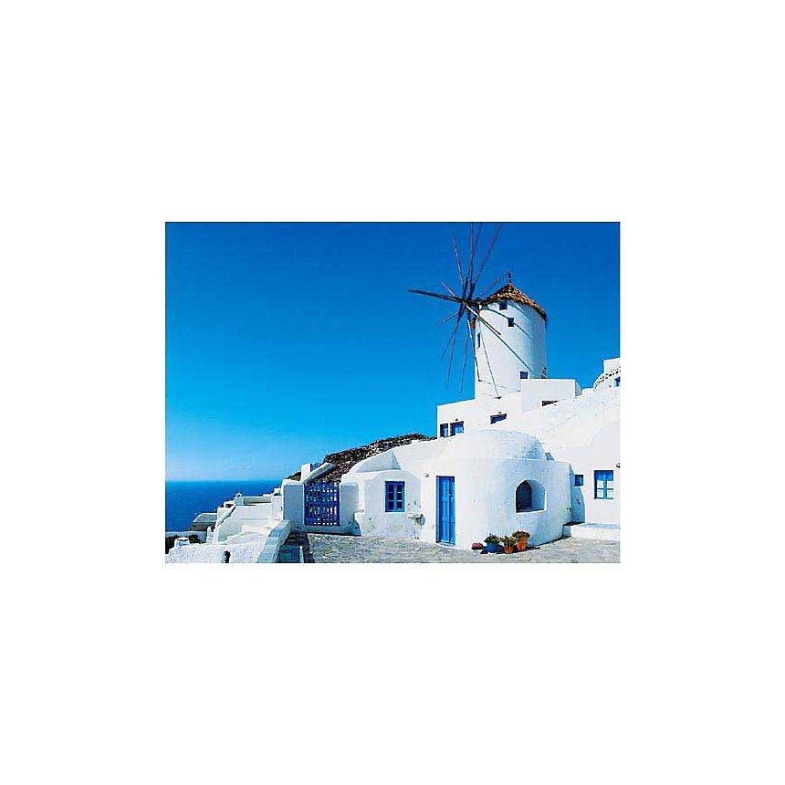 Moulin à Santorin, Georges MEIS, affiche 30x40 cm