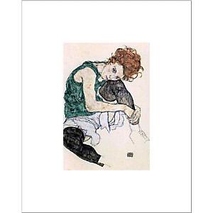 La femme de l'artiste, Egon SCHIELE (1890-1918), affiche 40x50 cm