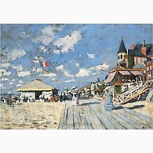 Sur les planches de Trouville , Claude MONET (1840-1926), affiche 30x40 cm