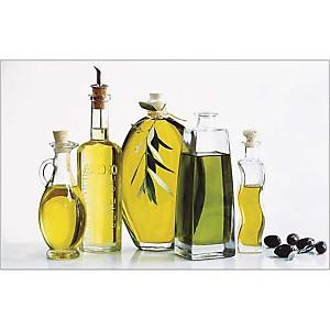 Bouteilles d'huile d'olive, Anonyme, affiche 50x70 cm