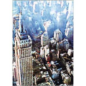 NYC vu du ciel , THIKENT, affiche 50x70 cm