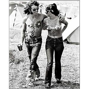 Isle of Wight Pop Festival, 1969 , Roger JACKSON, affiche 24x30 cm
