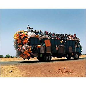 Sur la route de Kédougou, Sénégal, Sophie BRUSCHET, affiche 24x30 cm