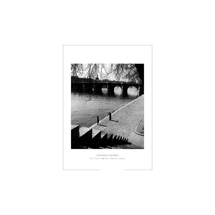 Le Pont-Neuf, Paris, 1950 , Edouard BOUBAT (1923-1999), affiche 50x70 cm