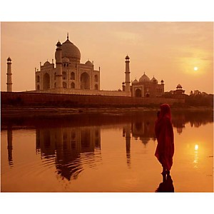 Taj Mahal, Agra, Inde, Peter ADAMS, affiche 24x30 cm
