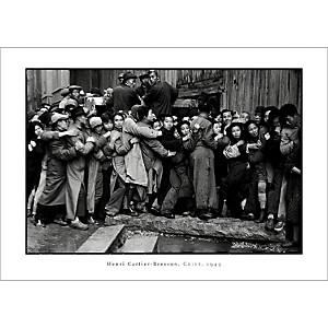 Distribution d'or, derniers jours du Kuomintang, Shanghai, Chine, 1949, Henri CARTIER-BRESSON (1908-2004), affiche 50x70 cm