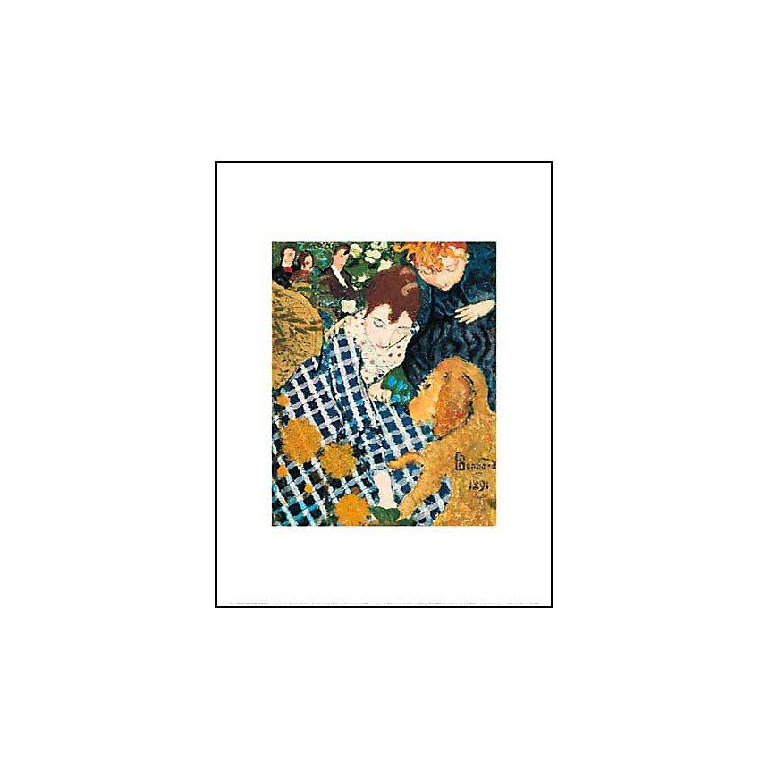 Mère avec enfant et son chien, Pierre BONNARD (1867-1947), affiche 30x40 cm