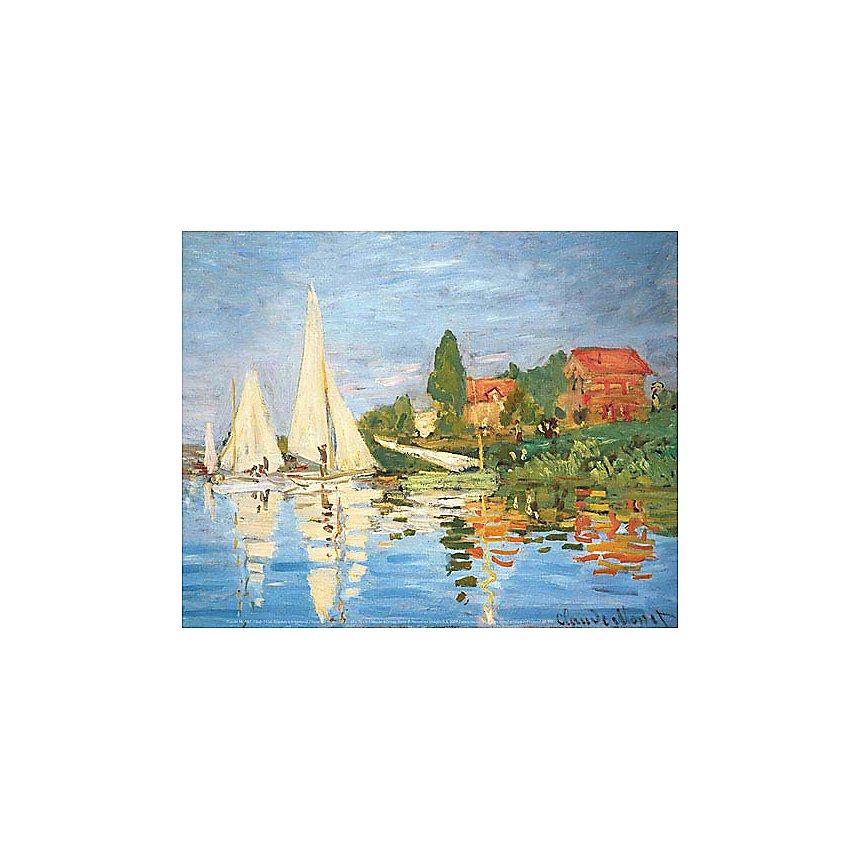 Régates à Argenteuil, Claude MONET (1840-1926), affiche 24x30 cm