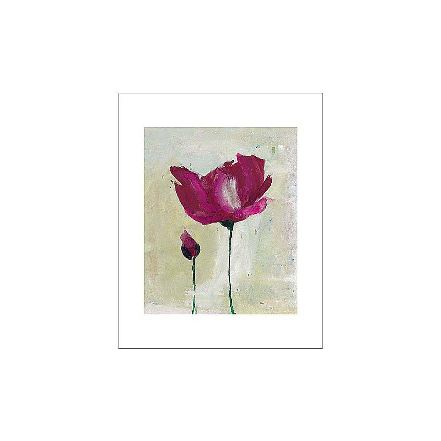 Pivoines, Lucile PRACHE, affiche 24x30 cm