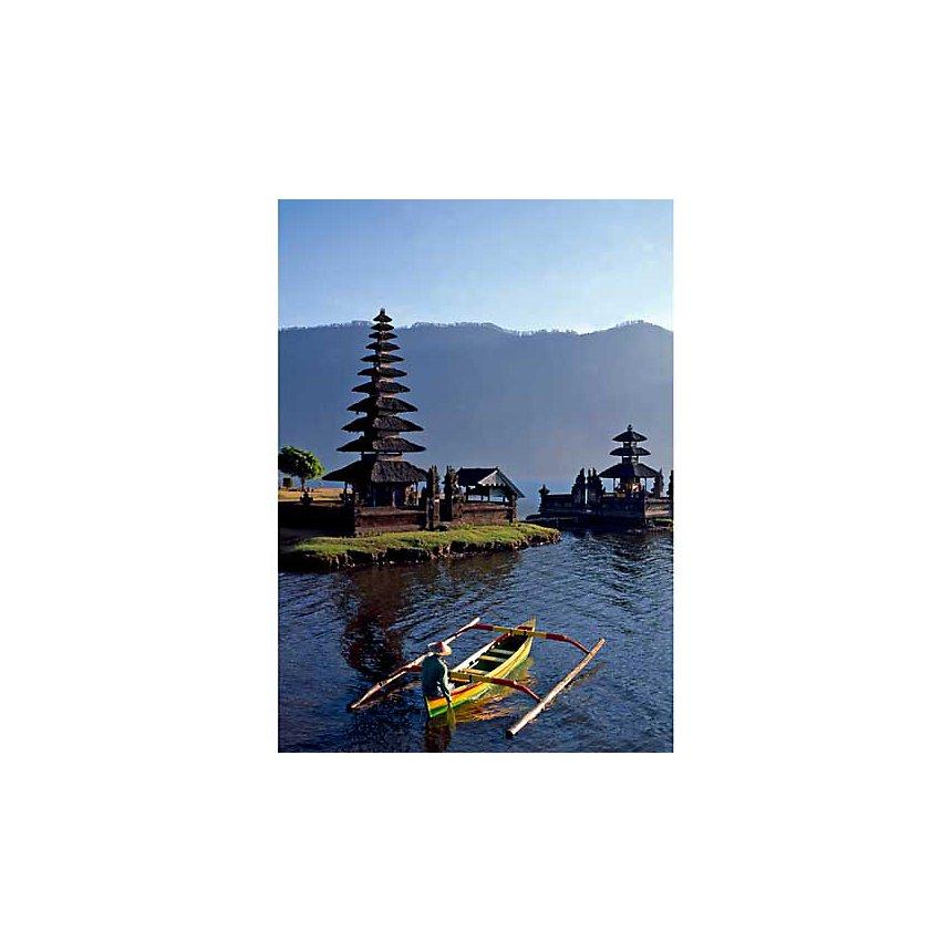 Le lac Bratan, Bali, Indonésie, WORLD PICTURES, affiche 50x70 cm