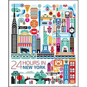 New York , Fernando VOLKEN TOGNI, affiche 24x30 cm