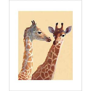 Les girafes, Noëlle TRIAUREAU, affiche 40x50 cm