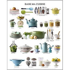Dans ma cuisine, Atelier Nouvelles Images, affiche 24x30 cm
