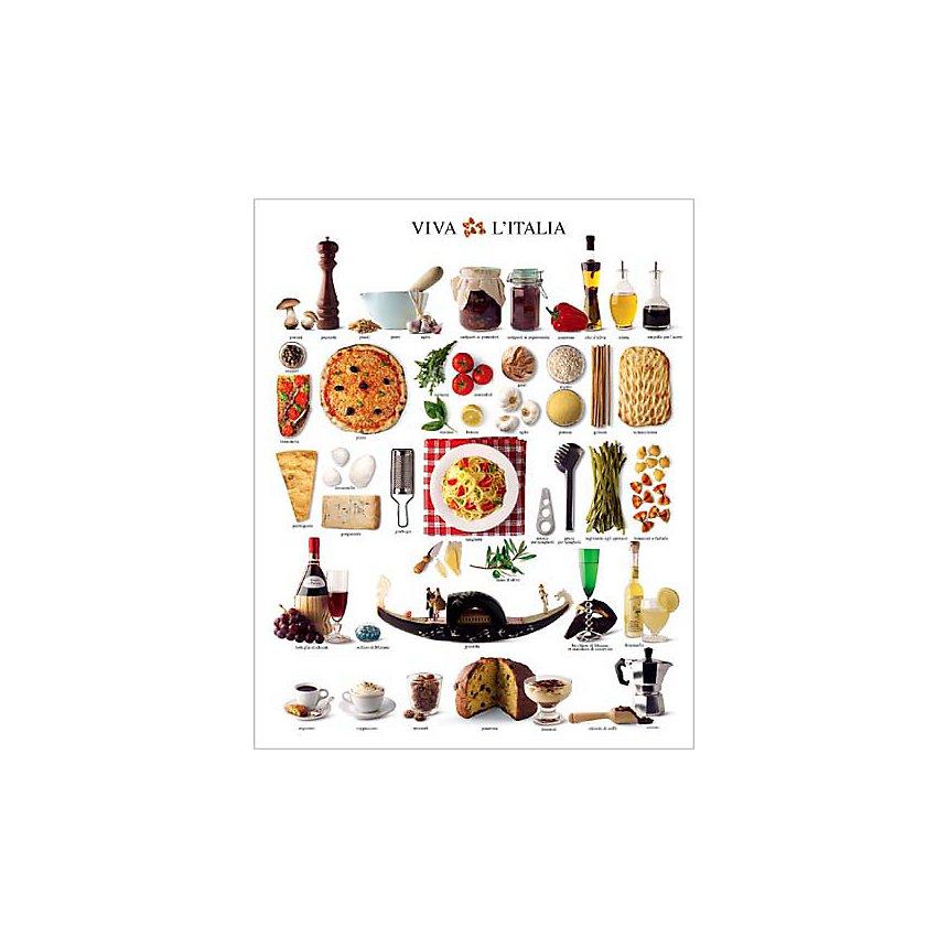 Les saveurs d'Italie, Atelier Nouvelles Images, affiche 24x30 cm