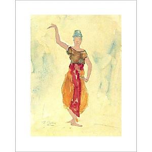 Danseuse Cambodgienne, Auguste RODIN (1840-1917), affiche 24x30 cm