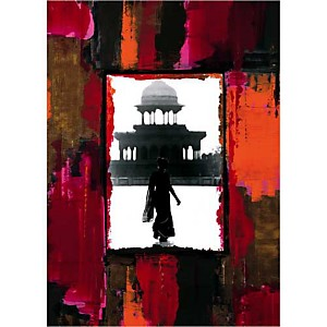 Femme au Taj, Anne VALVERDE, affiche 50x70 cm