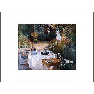Le déjeuner, Claude MONET (1840-1926), affiche 30x40 cm