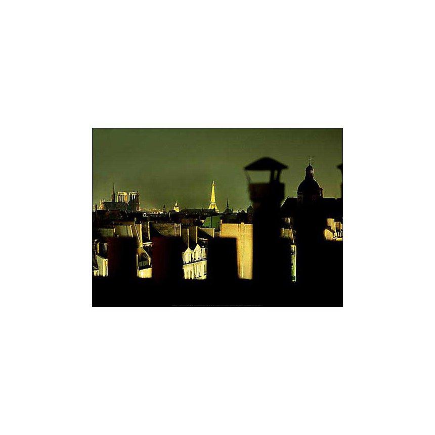 La tour Eiffel vue des toits de Paris, FRANCK CHAREL, affiche 50x70 cm