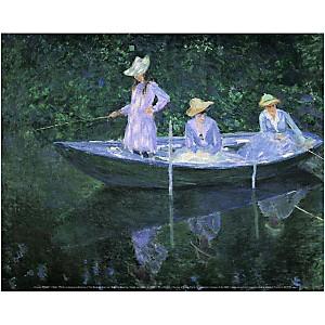 La barque à Giverny, Claude MONET (1840-1926), affiche 24x30 cm