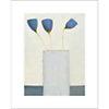 Fleurs bleues, Marie-Laurence LAMY, affiche 40x50 cm