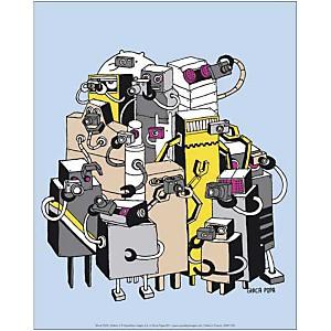 Robots 2 , Ghica POPA, affiche 24x30 cm