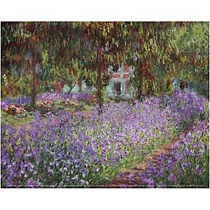 Le jardin de l'artiste à Giverny, Claude MONET (1840-1926), affiche 24x30 cm
