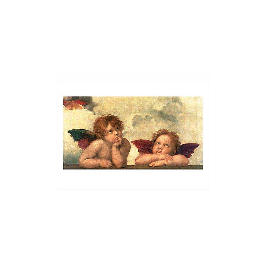 La Madone Sixtine (détail), RAPHAEL (1483-1520), affiche 50x70 cm