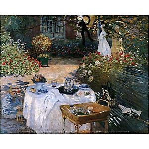 Le déjeuner, Claude MONET (1840-1926), affiche 24x30 cm