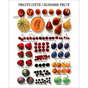 Fruits d'été, Atelier Nouvelles Images, affiche 40x50 cm