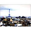 Vue sur la tour Eiffel, THIKENT, affiche 50x70 cm