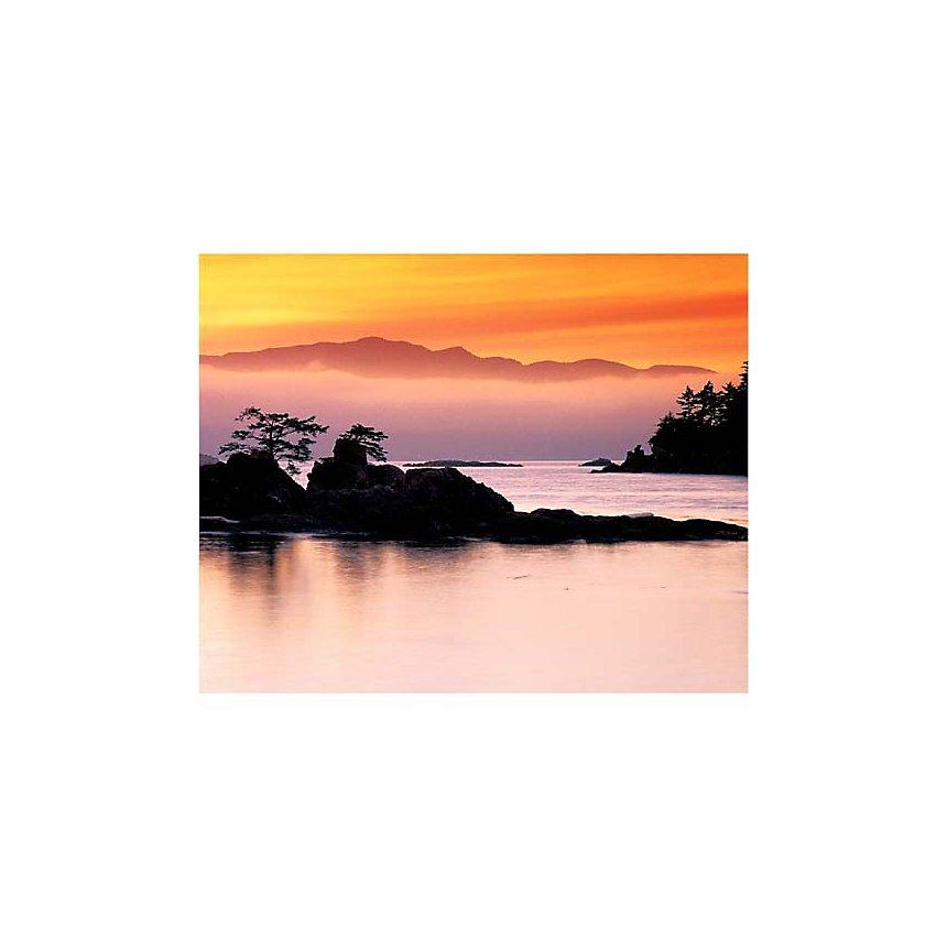 Ile Benson, Colombie britannique, Canada, J.A. KRAULIS, affiche 24x30 cm