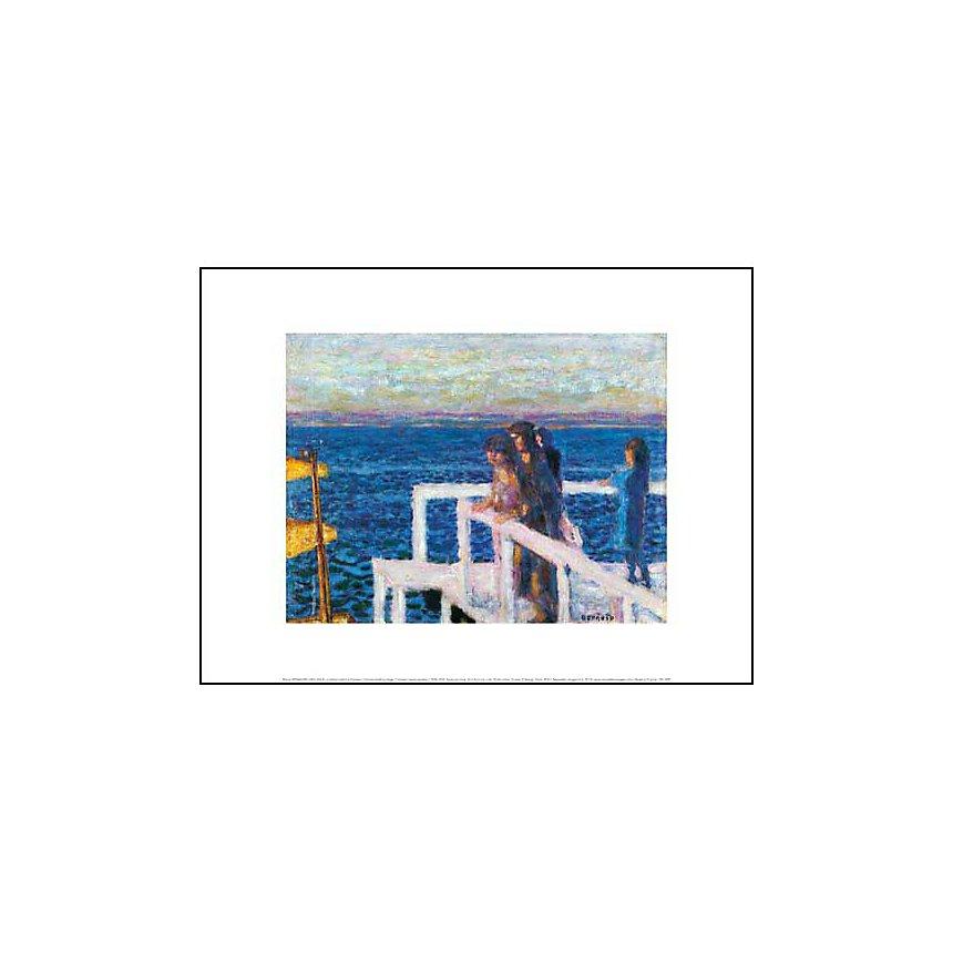 Le débarcadère à Cannes, Pierre BONNARD (1867-1947), affiche 30x40 cm
