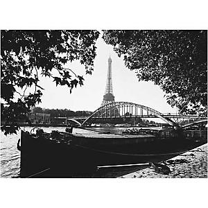 Quai de Seine, Bruno DE HOGUES, affiche 50x70 cm