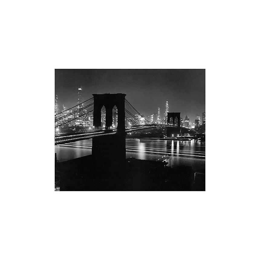 Le pont de Brooklyn de nuit, New York, 1948, Andreas FEININGER (1906-1999), affiche 24x30 cm