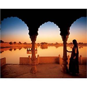 Fort de Jaisalmer, Rajasthan, Peter ADAMS, affiche 24x30 cm