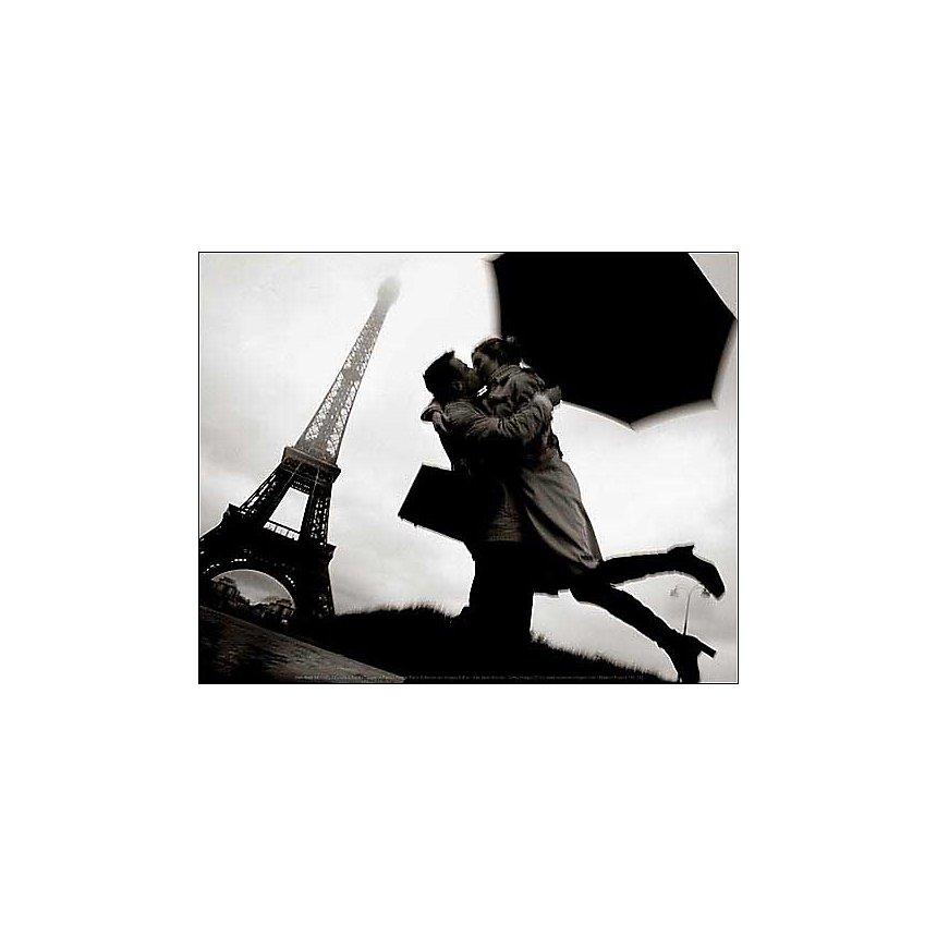 Couple à Paris, Jean-Noà«l REICHEL, affiche 24x30 cm