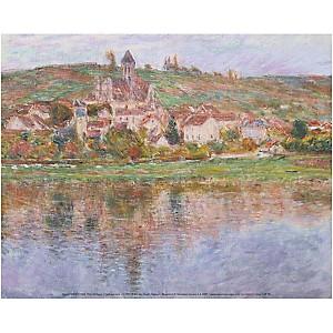 Vétheuil , Claude MONET (1840-1926), affiche 24x30 cm